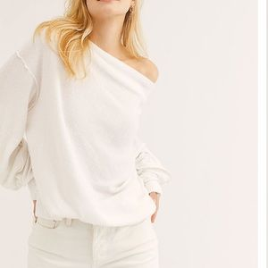 Free People Slouchy Long Sleeve Shirt